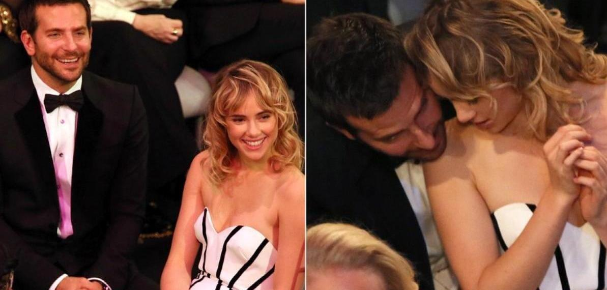 Bradley Cooper and Suki Waterhouse PDA at 2014 SAG Awards