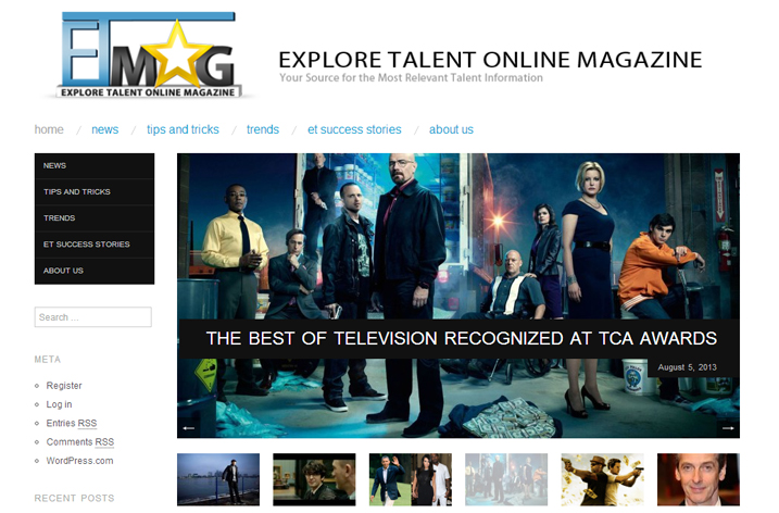Explore Talent Online Magazine